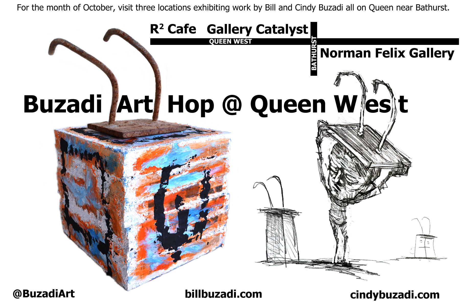 Buzadi Art Hop card front